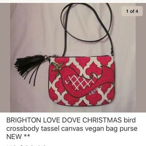 BRIGHTON LOVE DOVE CHRISTMAS vegan crossbody bag